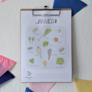calendrier fruits et legumes